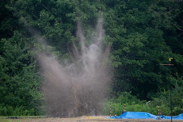 180235 CAS, Center for Geohazards Studies, Volcano hazards experiments, blast day, Springville