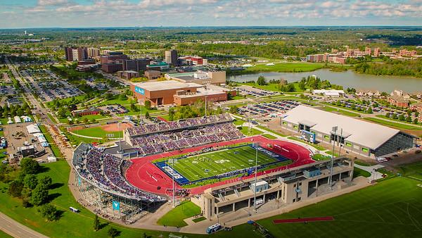 180289 Athletics, Aerial, Football, UB Vs Army, UB Stadium