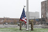 The 100th Anniversary of Armistice Day and Veterans Day celebrated at UB at Flint loop with raising the flag. <br /> <br /> Photographer: Nancy J. Parisi