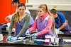 Undergraduate students learn CRISPR gene editing in the Biology lab of Nitasha Sehgal in Hochstetter Hall<br /> <br /> Photographer: Douglas Levere