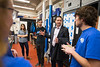 UB Alum Bradley Cheetham meeting with students in SEDS, Students for the Exploration and Development of Space, and the UB Honors College on the North Campus<br /> <br /> Photographer: Douglas Levere
