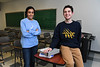 Portrait of UB undergraduates Sana Zubairi (left) and James Zielinski, who both participate in the UB Teach program, which enables students to complete their undergraduate work and earn a teaching certificate in five years.<br /> <br /> Photographer: Nancy J. Parisi