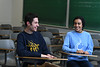Portrait of UB undergraduates James Zielinski (left) and Sana Zubairi, who both participate in the UB Teach program, which enables students to complete their undergraduate work and earn a teaching certificate in five years.<br /> <br /> Photographer: Nancy J. Parisi
