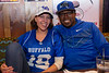 Fans attend the watch party at Santora's restaurant on Flint Road for the UB Bulls in the MAC Championship game on Friday, Nov. 30, 2018.<br /> <br /> Photographer: Meredith Forrest Kulwicki<br /> <br /> Katie and Patrick Crosby<br />  Alumni Katie '10 '12 and Patrick '11 '14