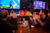 Fans attend the watch party at Santora's restaurant on Flint Road for the UB Bulls in the MAC Championship game on Friday, Nov. 30, 2018.<br /> <br /> Photographer: Meredith Forrest Kulwicki<br /> <br /> Jake Graca (far right) dental student with family