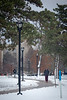 Students walking after a snow fall on South Campus.<br /> <br /> Photographer: Meredith Forrest Kulwicki