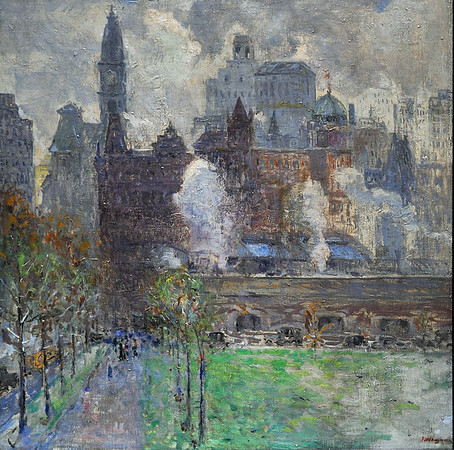 """Broad Street Station, Spring"" (c. 1919), by Fred Wagner"