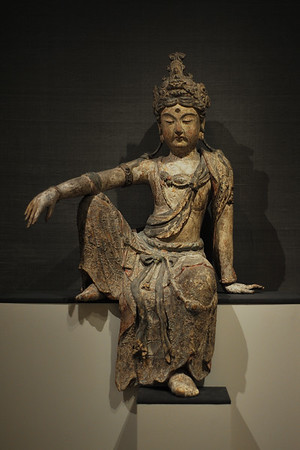 Guanyin (Jap. Kannon) seated in Royal-ease pose (c. 1250), China