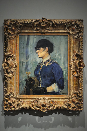 """Young Woman in a Round Hat"" (1877-79), by E. Manet"