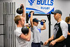 Students take a kettle ball class in Kimball Tower in November 2019 as part of the exercise science program in the School of Public Health and Health Professions. Dave Hostler oversees the class which is taught by a TA.<br /> <br /> Photographer: Douglas Levere
