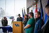 UB honored the university's veteran and military service members with a two-part program on Veterans Day, Nov. 11, 2019. There was an outdoor ceremony with a Flag raising at the Flint Loop as well as remarks in the Buffalo Room in Capen Hall. <br /> <br /> Photographer: Douglas Levere