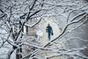 Snow feature photos of students walking on North Campus in December 2019.<br /> <br /> Photographer: Douglas Levere