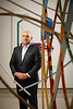 Portrait of Bob Scalise, director at University at Buffalo Art Galleries, taken in December 2019 at the Anderson Gallery.<br /> <br /> Photographer: Douglas Levere