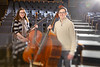Lisa Gagnon and her brother, Stephen, have performed together with high school and college orchestras — Lisa on cello and Stephen on string bass — and support each other in their individual endeavors as UB graduate students. <br /> <br /> Photographer: Douglas Levere
