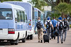 The UB Bulls Football team leaves the airport after arriving in the Bahamas for the Makers Wanted Bahamas Bowl on Dec. 16, 2019. <br /> <br /> Photographer: Meredith Forrest Kulwicki