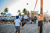 UB Bulls football team at the Beach Bash on Dec. 17, 2019 at the Atlantic Paradise Island Bahamas. This event was part of the week leading up to the Makers Wanted Bahamas Bowl. <br /> <br /> Photographer: Meredith Forrest Kulwicki