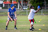 Wide receiver Max Bowden participates in the Youth Football Clinic near the old Thomas Robinson Stadium on Dec. 18, 2019 in the Bahamas. Youth, ages 7-13, came out for drills, game play and end zone dance practice during the clinic. The Youth Clinic, sponsored by KFC, is held in cooperation between the Makers Wanted Bahamas Bowl and USA Football.<br /> <br /> Photographer: Meredith Forrest Kulwicki