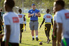 Offensive lineman Dan Kubik (71) participates in the Youth Football Clinic near the old Thomas Robinson Stadium on Dec. 18, 2019 in the Bahamas. Youth, ages 7-13, came out for drills, game play and end zone dance practice during the clinic. The Youth Clinic, sponsored by KFC, is held in cooperation between the Makers Wanted Bahamas Bowl and USA Football.<br /> <br /> Photographer: Meredith Forrest Kulwicki
