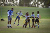 Safety Dawun Hylton participates in the Youth Football Clinic near the old Thomas Robinson Stadium on Dec. 18, 2019 in the Bahamas. Youth, ages 7-13, came out for drills, game play and end zone dance practice during the clinic. The Youth Clinic, sponsored by KFC, is held in cooperation between the Makers Wanted Bahamas Bowl and USA Football.<br /> <br /> Photographer: Meredith Forrest Kulwicki