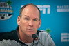 UB football head coach Lance Leipold speaks at the pregame press conference ahead of the Makers Wanted Bahamas Bowl at Thomas A. Robinson National Stadium on Dec. 19, 2019.<br /> <br /> Photographer: Meredith Forrest Kulwicki