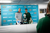 Head coaches Lance Leipold (left, Buffalo) and Will Healy (right, Charlotte) pose for photos during the pregame press conference ahead of the Makers Wanted Bahamas Bowl at Thomas A. Robinson National Stadium on Dec. 19, 2019.<br /> <br /> Photographer: Meredith Forrest Kulwicki