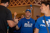 The UB band, cheerleaders, dance team as well as the football team, player's families and other members of the UB community gather in the lobby space of the Royal Towers at Atlantis Paradise Island Bahamas for a pep rally on Dec. 19, 2019. The team is preparing to play in the Makers Wanted Bahamas Bowl. <br /> <br /> Photographer: Meredith Forrest Kulwicki
