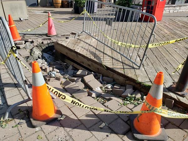 Docks Risings Damaged The Brickway