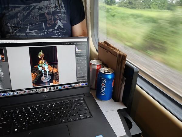 Editing Photos On The Train
