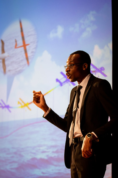 The Fourth Annual Three Minute Thesis Competition, hosted by the Graduate School and Blackstone LaunchPad. The presentations took place in the Screeen Room at CFA in March 2020. Presenter: Oladapo Ogunbodede<br /> <br /> Photographer: Meredith Forrest Kulwicki