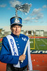 Portrait of Tom O'Connor in a marching band uniform at the UB Stadium in October 2020 for University Advancement.<br /> <br /> Photographer: Douglas Levere<br /> <br /> This image has been approved by UB's Office of Environment, Health and Safety to align with current (fall 2020) health and safety regulations during the COVID-19 pandemic.