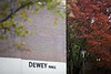 Examples of signature on Dewey Hall, part of the Governors Residence Halls on North Campus in the fall, photographed in October 2020. <br /> <br /> Photographer: Meredith Forrest Kulwicki
