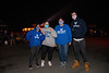 Football fans gather to watch the first game of the season, as the UB Bulls played the Northern Illinois Huskies at the Transit Drive-In in Lockport, NY on November 4, 2020. The season was delayed due to the COVID-19 pandemic. UB won 49-30.<br /> <br /> Photographer: Meredith Forrest Kulwicki<br /> <br /> This image has been approved by UB's Office of Environment, Health and Safety to align with current (fall 2020) health and safety regulations during the COVID-19 pandemic.