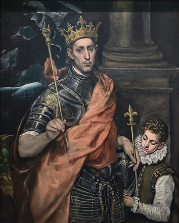 Saint Louis, King of France, and a Page (1585-1590) by El Greco