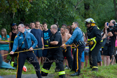 08-15-2011, Swift Water Rescue, Folsom, Atlantic County, Fenimore Ave.