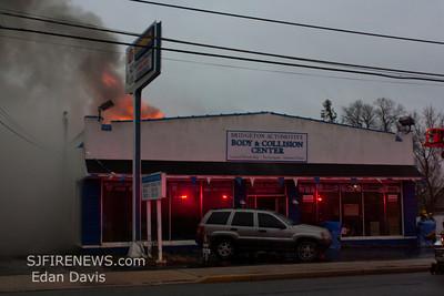 12-21-2011, 2nd Alarm Commercial Structure, Bridgeton City, Cumberland County, 693 N. Pearl St. Bridgeton Automotive