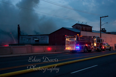 July 24, 2011, 4 Alarm Commercial Structure,  Bridgeton City, Cumberland County, H.H Hankins and Bros. Hardware. 12 W. Broad St.