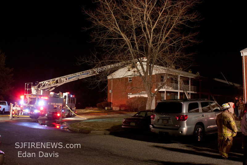 02-23-2012, 2nd Alarm Apartment, Washington Twp  195 Fries Mill Rd  Birches West, (C) Edan Davis, www sjfirenews com