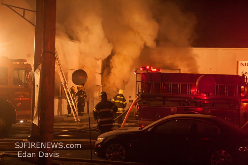 11-29-2014, 2 Alarm Commercial Structure, Vineland City, 1715 S  Delsea Dr  Team Nissan (C) Edan Davis, www sjfirenews com  (5)