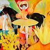 """""""Las Tres Lichas"""" (acrylic and oil on canvas) by René Alvarado"""