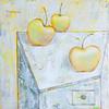 """Still Life with apples"" (oil on canvas) by Alena Dziamentsyeva"