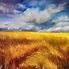 """Mueller's Meadow"" (oil on canvas) by Mitra Devon"