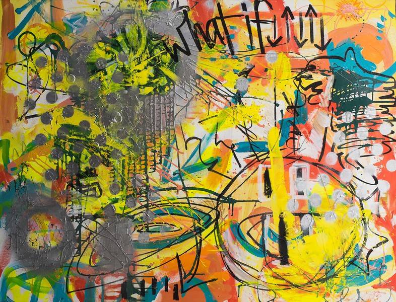 """""""What If"""" (mixed media) by Elizabeth Downey-Sunnen"""