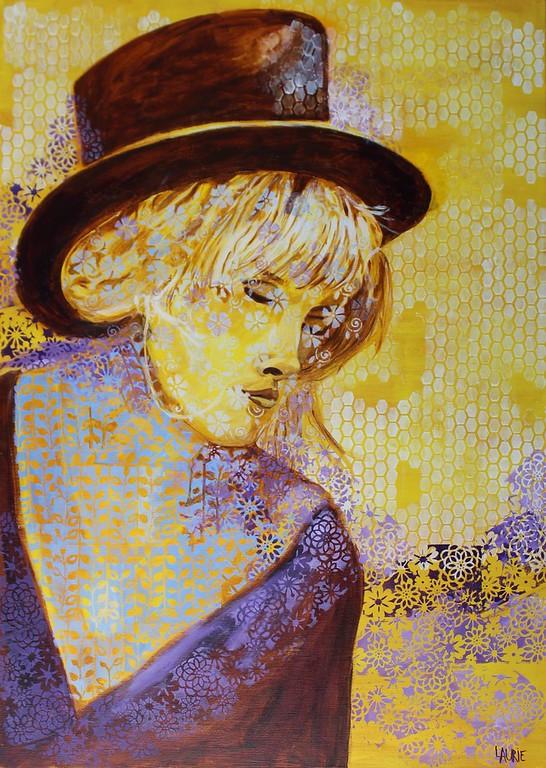"""""""Festival Girl 1"""" (acrylic) by Laurie Rosenberg"""