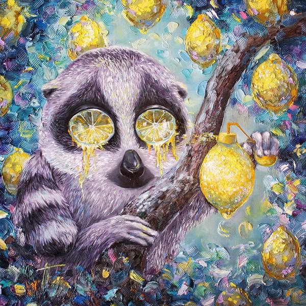 """Lemon morning"" (oil on canvas) by Julia Grishina"
