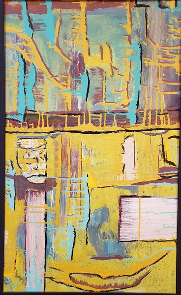 """""""Yellowman"""" (acrylic) by Colleen Provencher"""