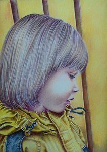 """""""After the Rain"""" (colored pencil) by Marta Oliehoek"""