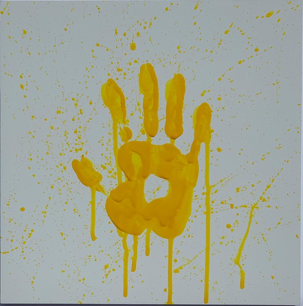 """Yellow Handprint"" (acrylic) by Anna Kutsova"