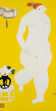 """Jiangnan Joys 1"" (oil on canvas) by Lynn Chen"