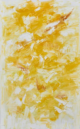 """Thoughts About Yellow"" (acrylic and oil on canvas) by Olga Bavykina"