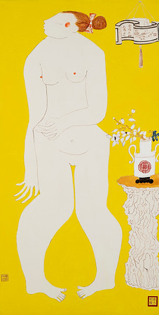 """Jiangnan Joys 2"" (oil on canvas) by Lynn Chen"